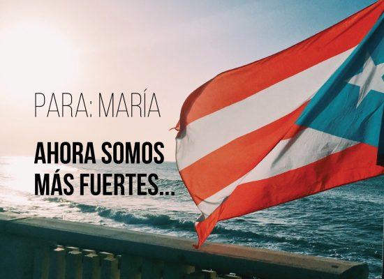 [Vídeo] Para: María ¡Ahora somos más fuertes!