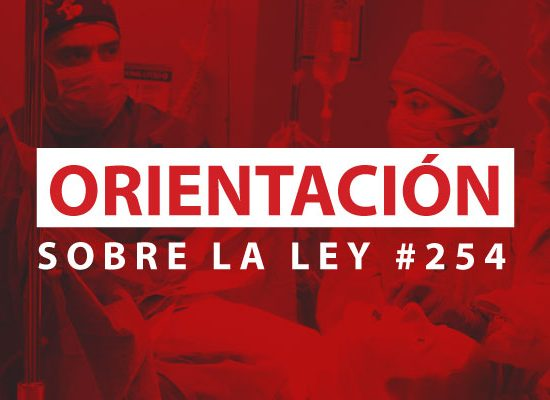Orientación de la Ley #254 a estudiantes y graduados de Anestesia
